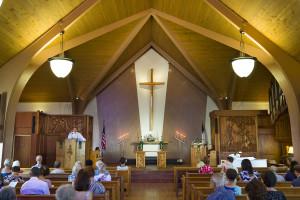 waiokeola service in the main sanctuary